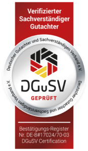 Siegel DGuSV Gutachter